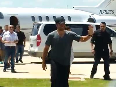 Así llegaba Chayanne al aeropuerto de Villa María
