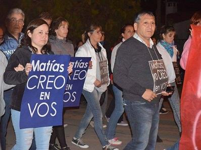 Marcharon en Las Perdices por la libertad de un vecino