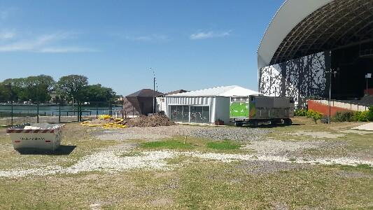 En el Anfiteatro iniciaron obras rumbo a las Bodas de Oro del Festival