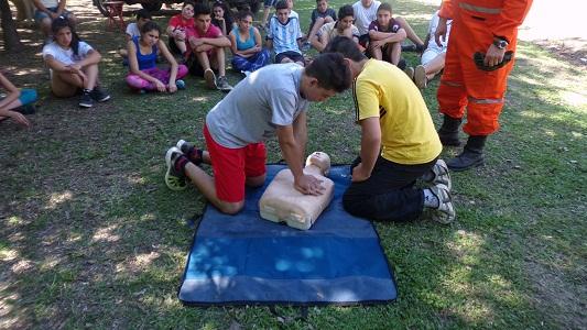 Más de 40 aspirantes a bomberos se capacitaron en Villa Nueva