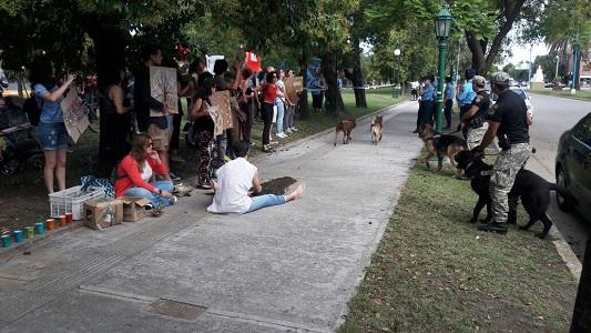 Protesta de docentes y ambientalistas por la ley de bosques