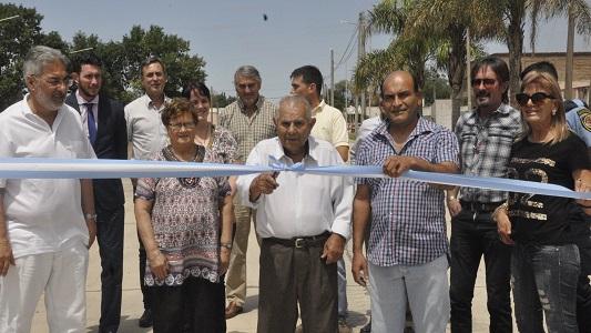 Se inauguró la obra de pavimentación en Tío Pujio