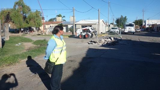 Cortes parciales por repavimentación en la Avenida Libertad