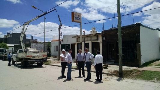 EPEC trabaja para restablecer el servicio de energía eléctrica