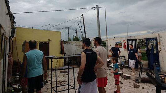La tormenta voló techos y causó daño en Tío Pujio