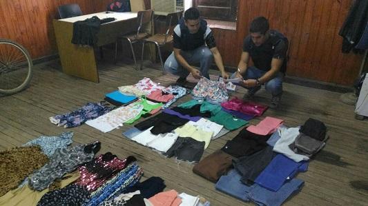 Recuperan toda la ropa y detienen a los ladrones de una tienda