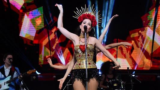 Natalia Oreiro trajo la música de Gilda y los clásicos de sus novelas