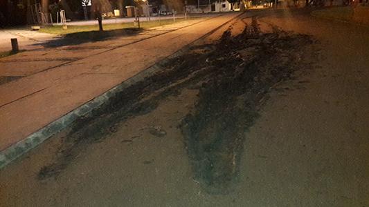 """Se metieron al """"Poli"""" con un auto y destruyeron la pista"""