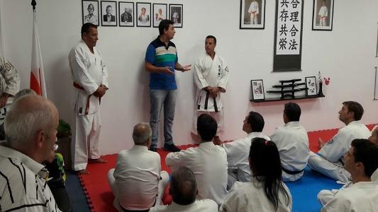 Inauguraron la escuela Miyazato Karate en el club Ameghino