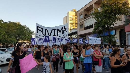 Para decir basta a la violencia, marchan en Villa María bajo la consigna Ni Una Menos