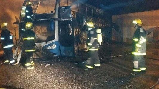 Un Córdoba Coata se incendió en la terminal de Corral de Bustos