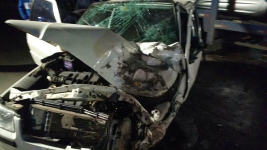 Una familia de la ciudad sufrió un accidente sobre ruta 9
