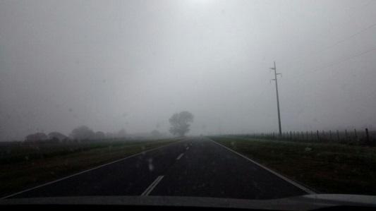 Precaución por intensa neblina en rutas