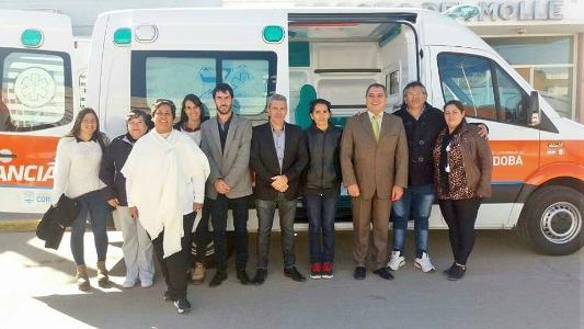 Nueva ambulancia a Pozo del Molle y la Sala Cuna 211 de la provincia