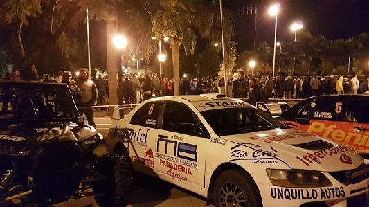 Con gran marco de gente se largó oficialmente el Rally en el subnivel