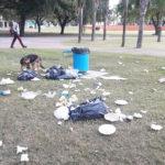 TACHO basura perro parque de la vida