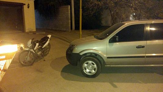 Choque en Etruria entre una moto y una camioneta