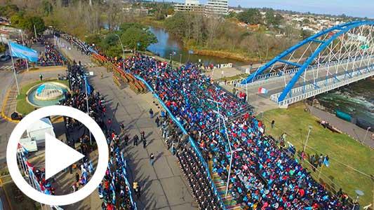 Mirá el video completo del acto por el Día de la Bandera