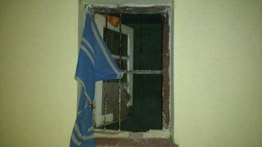 ventana violentada