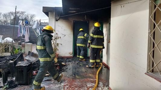 Incendio en un hogar de ancianos de Villa Nueva
