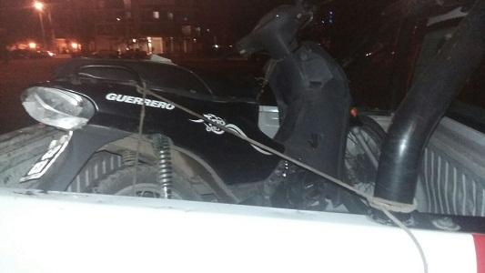 Moto robada en el parque 02