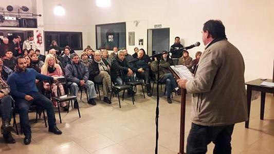 Frossasco presentó su agrupación política y sentó posiciones