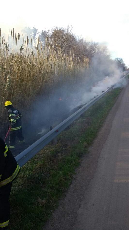 incendio pastizales ruta 158 villa nueva