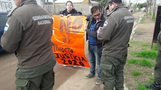 judiciales protesta visita macri