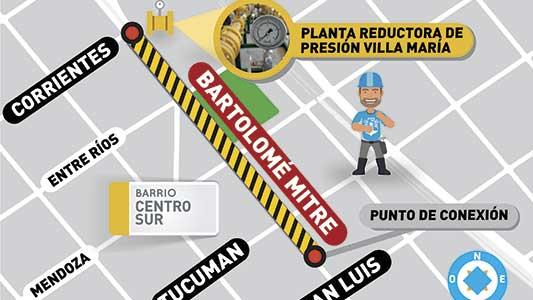 Calle Mitre quedará bloqueada por obra de gasoducto regional
