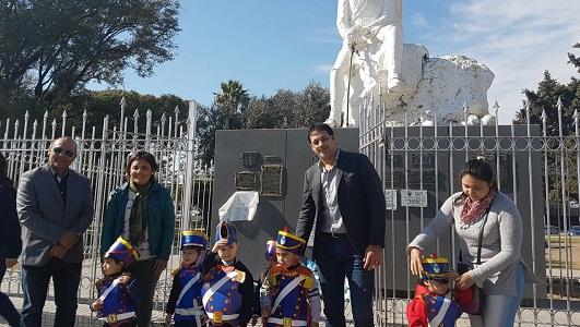Villa Nueva tuvo su acto en homenaje al Padre de la Patria