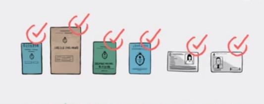 documentos validos para votar