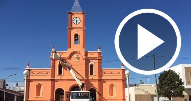 Con nuevos colores: en 60 días reabren la iglesia de Pozo del Molle