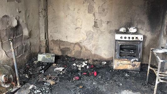 Así quedó la casa que se incendió en barrio San Nicolás