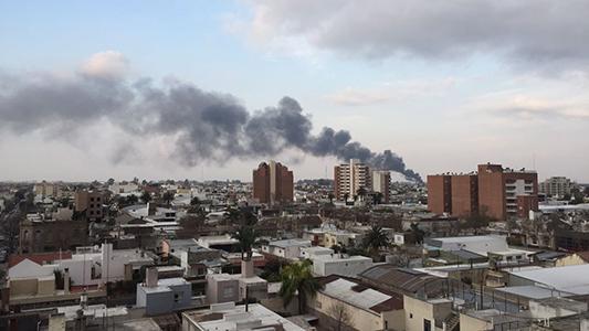 Así fue visto el incendio desde distintas partes de la ciudad
