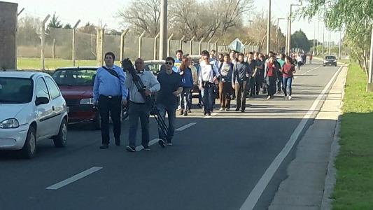 Fotos de la marcha de la UNVM por las víctimas del cruce con ruta 9