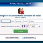 pagina web para infractores por no votar