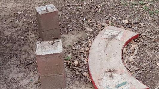 parque villa nueva destrozos
