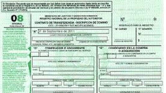 El formulario 08 de compraventa se puede completar en la web