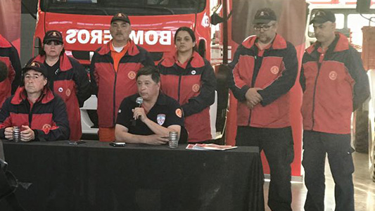 Bombero villamariense recibió a los que buscaron a Maldonado