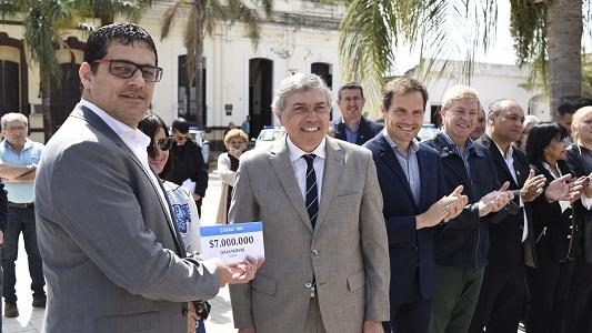 Villa Nueva recibió $7.000.000 para terminar la remodelación del parque