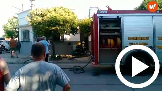 Creen que el incendio comenzó por una falla del lavarropas