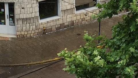 granizo piedra tormenta barrio centro