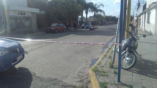 Falleció remisero de Villa Nueva que fue chocado por una chica en moto