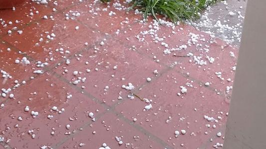 piedra tormenta granizo 2 barrio parque
