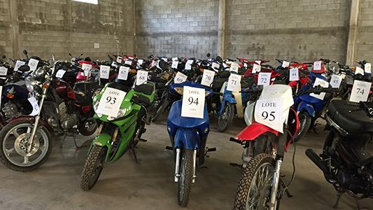 Se viene un nuevo remate público de motocicletas