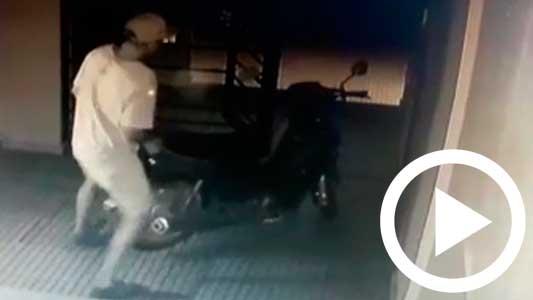 Pusieron cámaras por los robos, pero igual le llevaron la moto