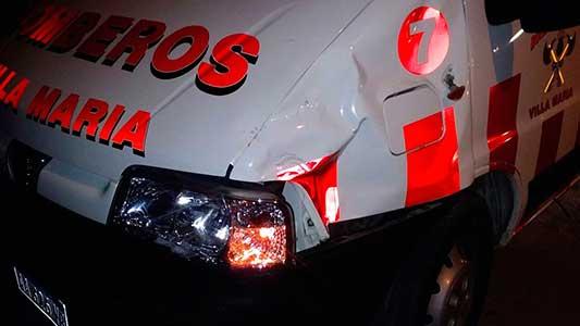 Falleció motociclista que chocó contra ambulancia de Bomberos