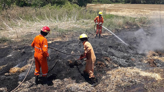 basural villa nueva fuego bomberos