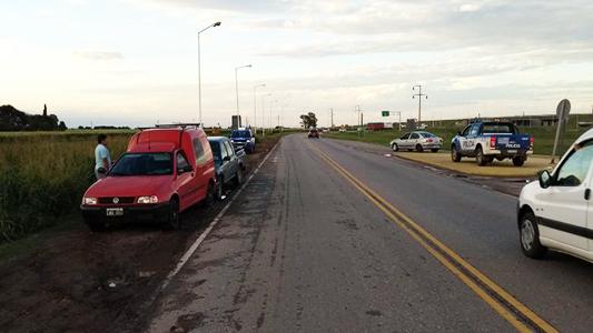 Fuerte choque en el acceso a la Autopista por ruta 158