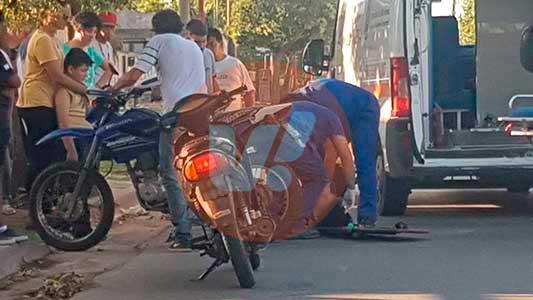 Lo de siempre: Motociclistas heridos en Villa Nueva y Villa María